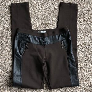 NWT Alberto Makali PU leather Trim Ponte Pants